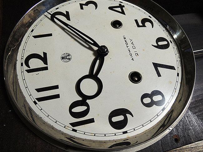 レトロ柱時計「AICHITOKEI  21DAY」 画像