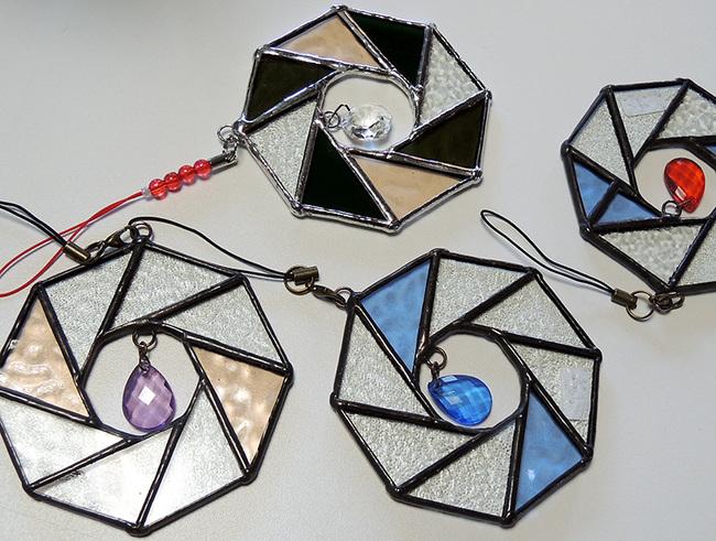 ステンドグラス小物雑貨~クリスマスオーナメント~