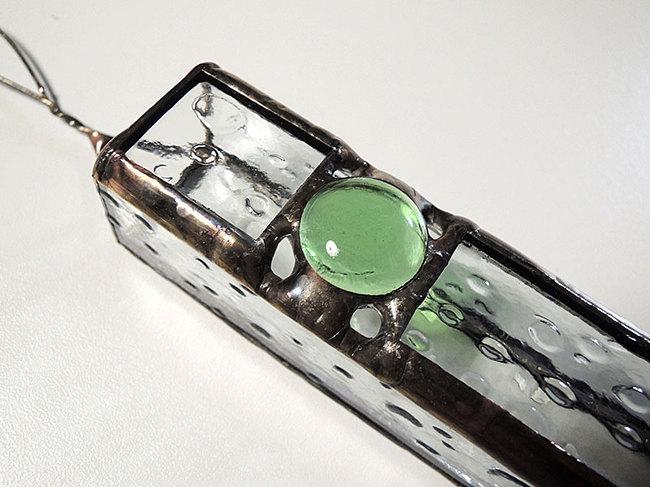 ステンドグラス製・壁掛けタイプ一輪ざし「アンティークゴールド」