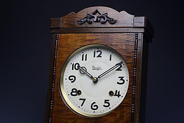 レトロ柱時計 明治時計