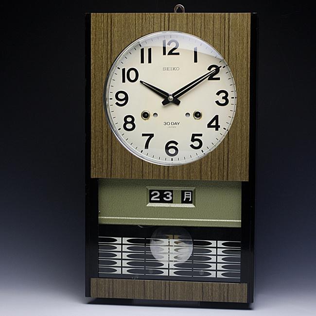 SEIKO(セイコー)製 30DAY/4PL カレンダー レトロ柱時計|ボンボン時計