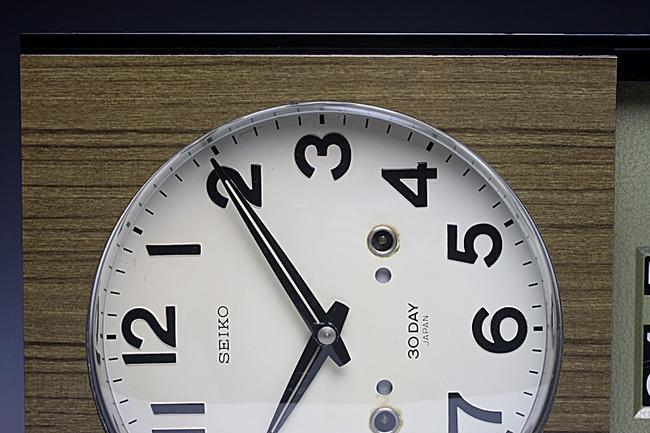 SEIKO(セイコー)製 30DAY/4PL カレンダー レトロ柱時計|30日巻き