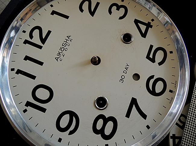!AKIKOSHA(愛工舎)製 31DAY カレンダー 柱時計文字盤