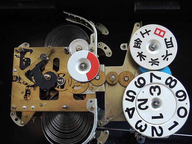 AKIKOSHA(愛工舎)製 31DAY カレンダー 柱時計|ゼンマイ式
