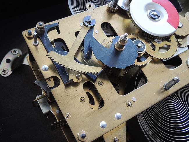AKIKOSHA(愛工舎)製 31DAY カレンダー レトロ柱時計|ゼンマイ式ムーブメント