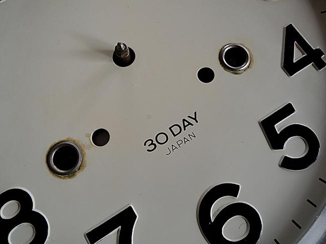 SEIKO(セイコー)製 30DAY/4PL カレンダー レトロ柱時計|文字盤拡大写真