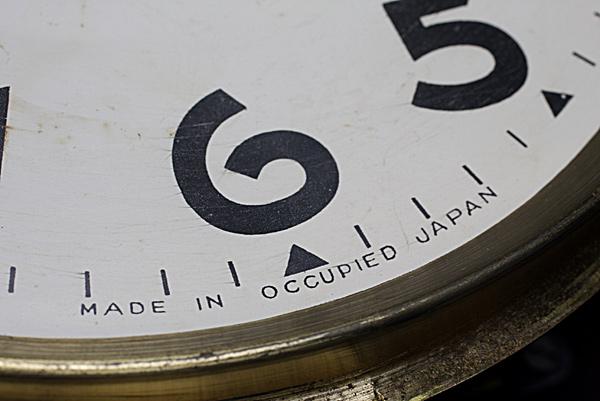 レトロ柱時計 文字盤の表示