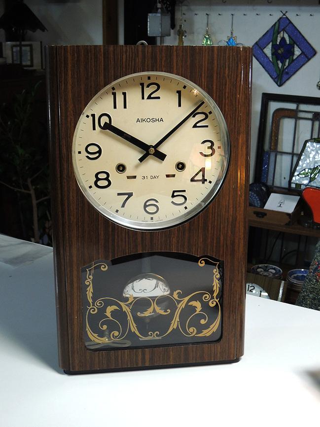 レトロ柱時計 AIKOSHA(愛工舎)製31 Day入荷