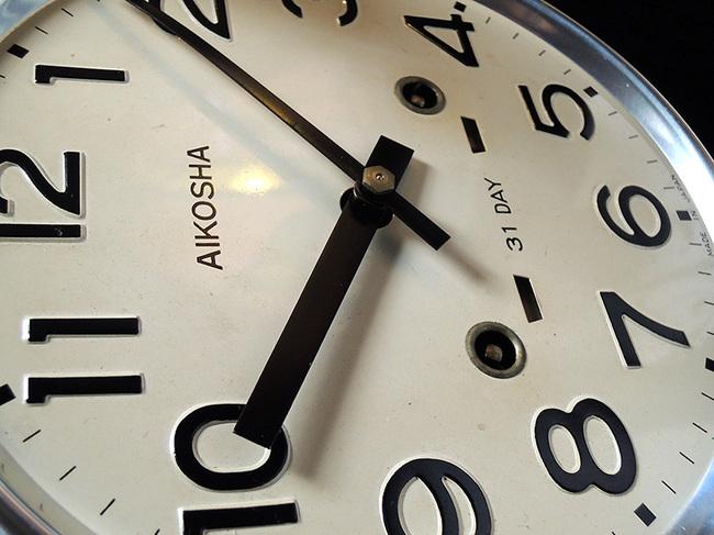レトロ柱時計 AIKOSHA(愛工舎)製31 Day文字盤