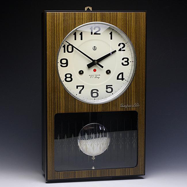 AICHITOKEI Super60 60日巻 レトロ柱時計