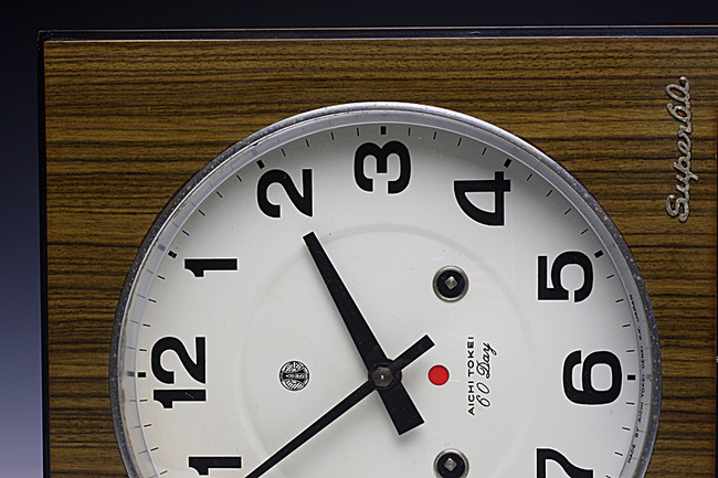 AICHITOKEI Super60 60DAY レトロ柱時計|ゼンマイ式