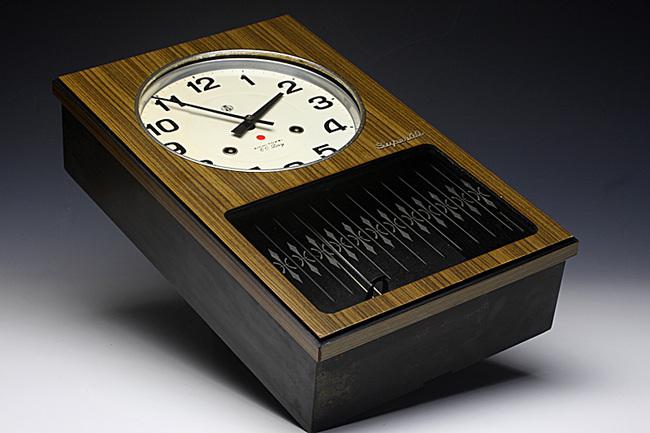 AICHITOKEI Super60 60日巻 レトロ柱時計|外観画像