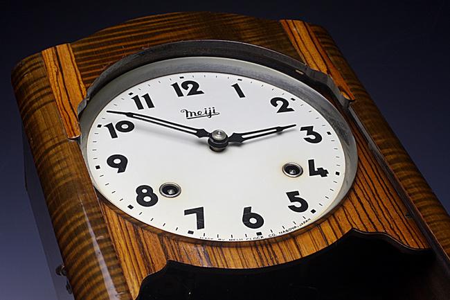 Meiji(明治時計)製 8日巻 レトロ柱時計|ゼンマイ式ボンボン時計