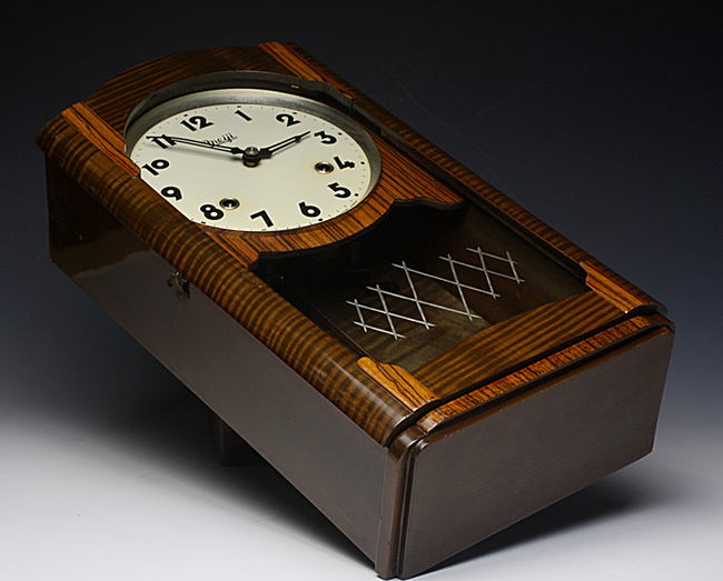Meiji(明治時計)製 8日巻 レトロ柱時計|ゼンマイ式ボンボン時計画像