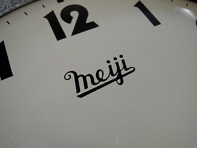 Meiji(明治時計)製 8日巻 レトロ柱時計|マーク