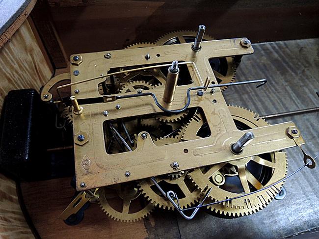 Meiji(明治時計)製 8日巻 レトロ柱時計|ゼンマイ式ムーブメント
