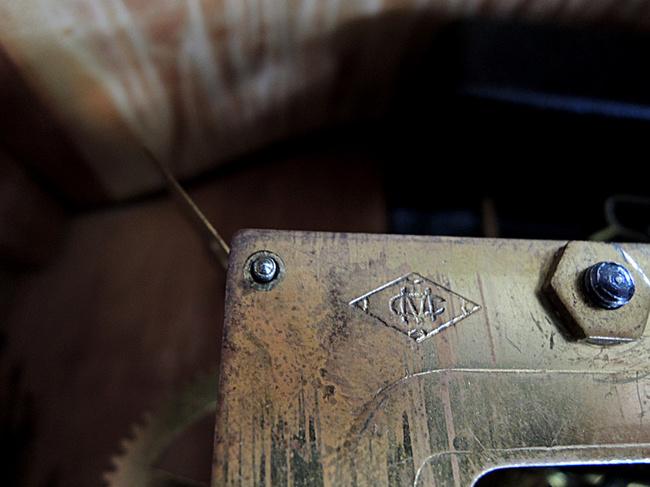 Meiji(明治時計)製 8日巻 レトロ柱時計|MEIJIマーク