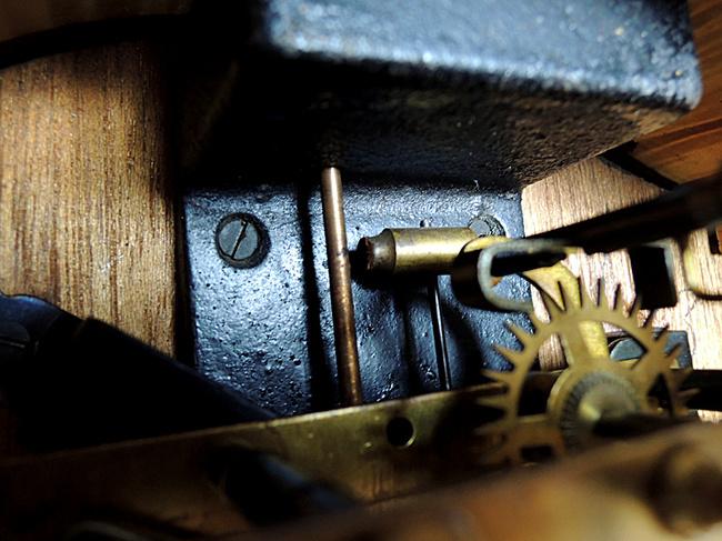 Meiji(明治時計)製 8日巻 レトロ柱時計|鈴棒