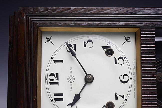 SEIKOSHA(精工舎)製 レトロ柱時計|ゼンマイ式ボンボン時計画像