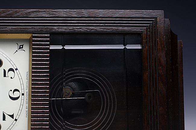 SEIKOSHA(精工舎)製 レトロ柱時計|ゼンマイ式ボンボン時計写真