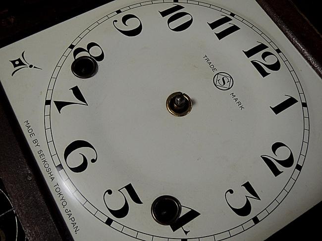 SEIKOSHA(精工舎)製 レトロ柱時計|文字盤