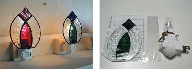 ステンドグラス手作り体験教室・制作キット・ナイトライト・オリエンタル