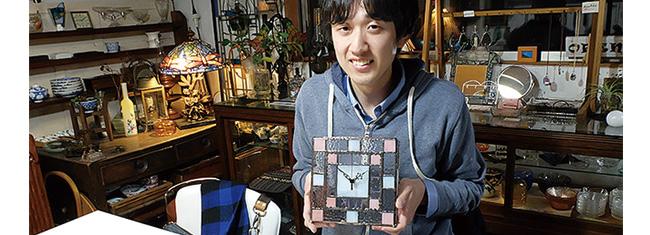 ステンドグラス制作体験・置き時計の制作