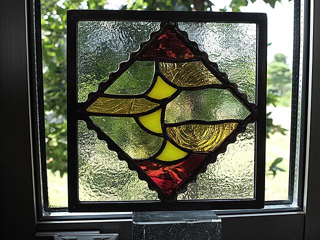 ステンドグラス、秋、風景、紅葉、イチョウ