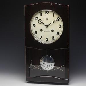 レトロ感漂う存在感!愛知時計(AICHITOKEI)レトロ柱時計【ゼンマイ式】