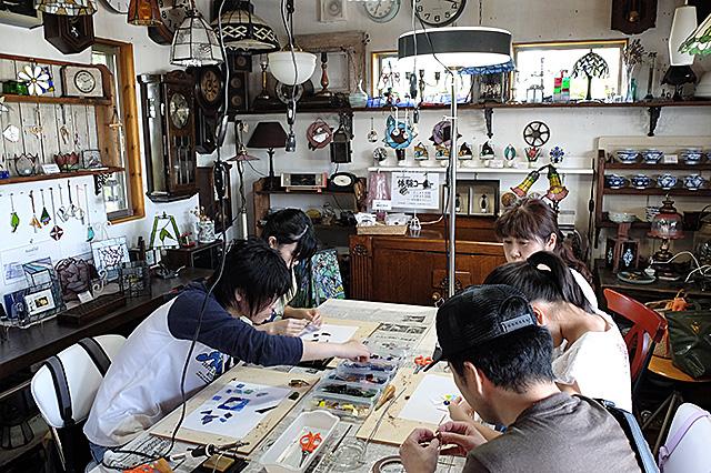 新潟市秋葉区・夏休み自由工作親子ステンドグラス1日体験20160807-02