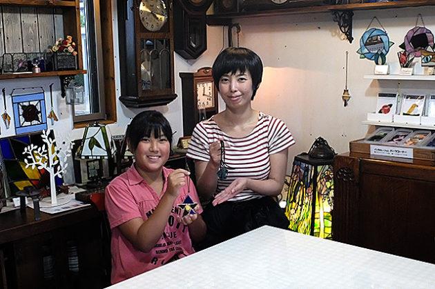 おすすめ新潟市・ステンドグラス夏休み親子体験・アミーゼ