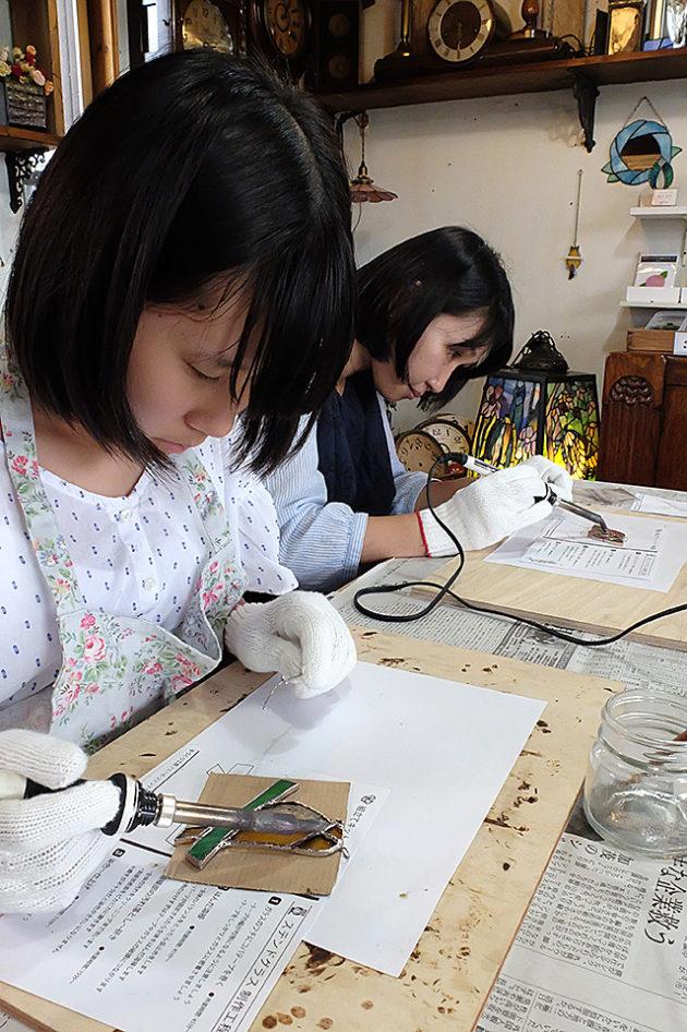 Amieseステンドグラス・夏休み工作親子体験・新潟県新潟市