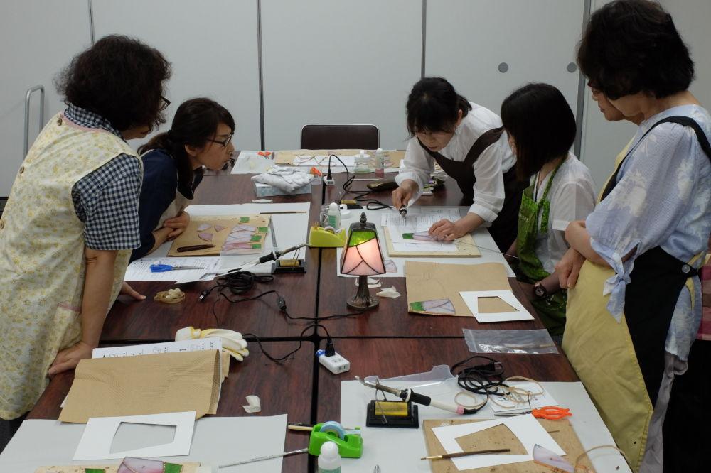 新潟日報カルチャースクール三条・ステンドグラス教室